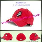 6 panels cotton sports cap red ccap-3543