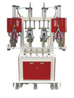 Two cold and two hot heel seat molding fully automatic shoe making machine