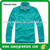 Long sleeve polyester green polo tshirt
