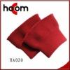cotton yarn red knit rib cuff