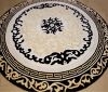 Hand-made Round Wool Carpet