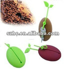 Coffee Bean Shape Silicone Coin Purse,key case