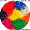 hot selling colorful water bead 3-4mm dry rainbow clay crystal soil