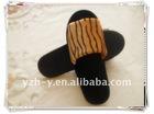 Golden velvet slippers