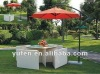 2012 hot sale new style plastic rattan dining furniture with white rattan