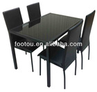 top quality modern black dining room table and chair
