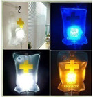 Hospital Bag Shaped Lamp USB Drip LED Light Creative Night Light 3 Colors Christmas Gift