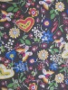 600D pvc coated printed polyester fabric ,silver drop, love design,hot sale