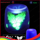 rechargeable led wax pillar candles