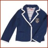 Girls Cotton Deep Blue Jacket with Fully Lined Striped