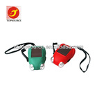 Hight Power Frog Solor Power Hand Crank Flashlight with rope