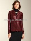 Ladies soft thin leather jacket