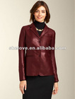 Ladies soft thin leather jacket