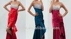 Strapless Satin Short Front Long Back Party Dress