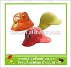 Printed kids pu rainhats, pvc rain hats
