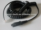 rj11 QD cord for call center headset, compatible with PLT or Cisco