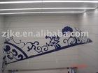 Vitreous enamel wall fresco