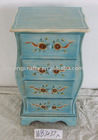 Antique Handpainted Light Green Cabinet