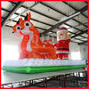 popular inflatable santa claus on deer sled