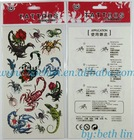 animal body tattoo sticker