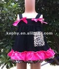 Leopard black and hot pink baby swing dress