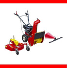 3-in-1 multifunction lawn mower with rotary mower, scythe mower and snow blower