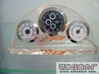 newly design clear acrylic paperweight with clock