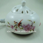 Flower&bird cheap ceramic electric oil burner