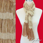 stretch amazing scarves crinkle finished
