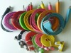 2012 NEW Colorful usb flat cable for i phone for i Pad 9 colours.large stock