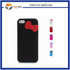 Wholesale 3D Hello Kitty Silicone Case for iPhone 5