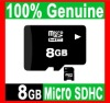 BRAND NEW REAL 8GB MICROSD MICRO SD HC MICROSDHC TF FLASH MEMORY CARD GENUINE 8 GB WITH SD ADAPTER -FREE SHIPPING
