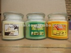scented glass jar candles