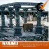 outdoor marble roman pillar