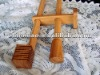 2012 selected bamboo double bracket curtain pole