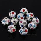 2.5MM Hole Multicolor Rhinestone Ball Beads