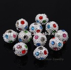 2.5MM Hole Multicolor Rhinestone Ball Beads
