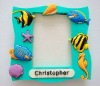 Sea fish plastic frame 3d pvc photo frame