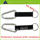 Short lanyard with carabiner hook&PVC patch