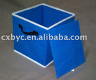 blue non-woven folding storage box