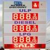 Gas station LED display/gas price led display/led gas price display