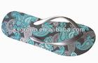 Fancy printed Cheap PE Beach Slipper for women