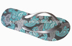 Fancy printed Cheap PE Beach Slipper for women