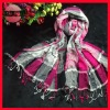 2013 new style checked scarf cotton voile scarf