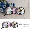 flower pattern canvas cosmetic bag
