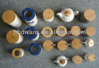 High quality airtight bamboo cover for ceramic canisters