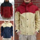 Men's patchwork hooded technical light jacket coats