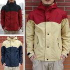 Men's patchwork hooded technical light jacket coats