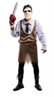 Saw Man Pattern Polyester Scary Halloween Costume