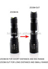 Top quality CREE T6 10W Rechargeable Zoom adjustable LED Flashlight
